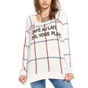 Chaser Cafe Au Lait Graphic crewneck sweater M
